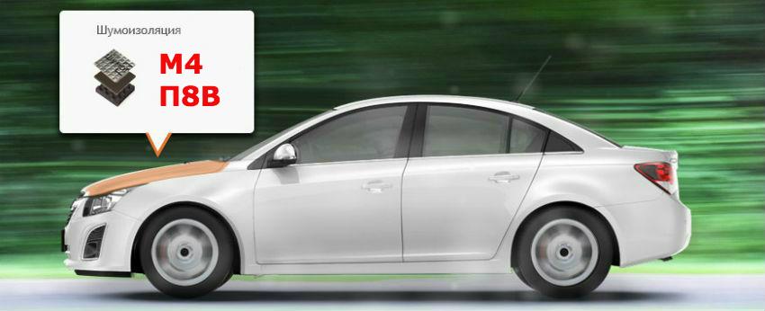 Шумоизоляция моторного отсека автомобиля